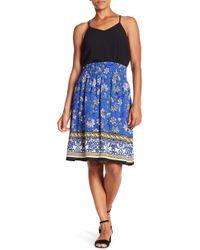 Bobeau - Smocked Knee Length Skirt - Lyst