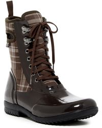 Bogs - Sidney Plaid Waterproof Lace-up Boot - Lyst