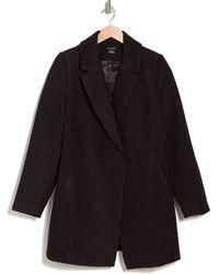 City Chic Textured Bliss Coat - Black