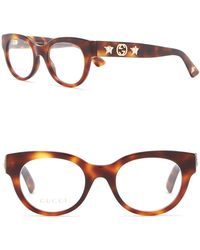 Gucci - 48mm Rounded Optical Frames - Lyst