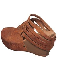 Antelope - Woven Suede Wedge Clog - Lyst