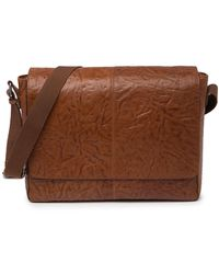 Frye Leather Messenger Bag - Brown