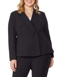REBEL WILSON X ANGELS Peplum Blazer (plus Size) - Black
