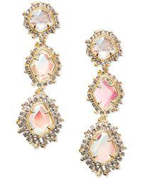 Kendra Scott Aria Clip On Rose Gold Statement Earrings - Metallic
