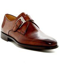Magnanni Tudanca Leather Monk Strap Dress Shoe - Wide Width Available - Brown