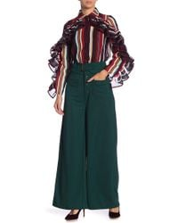Gracia - Front Pocket Belted Wide Leg Pants - Lyst