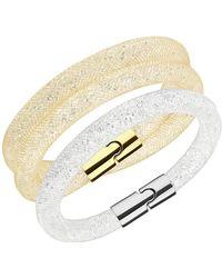 Swarovski - Stardust Crystal Filled Mesh Bracelet - Set Of 2 - Lyst