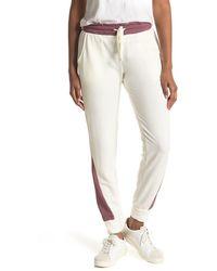 Project Social T Colorblock Fleece Sweatpants - White