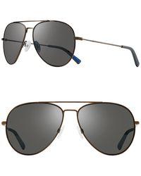 Revo 60mm Spark S Aviator Sunglasses - Gray