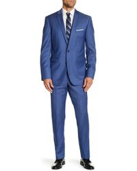 Vince Camuto - Chambray Blue Wool Trim Fit Two Button Notch Lapel Suit - Lyst