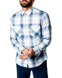 Good Man Brand - Trim Fit Plaid Sport Shirt - Lyst