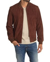 Slate & Stone Suede Bomber Jacket - Brown