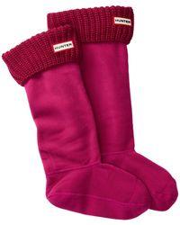 HUNTER - Half Cardigan Boot Socks - Lyst