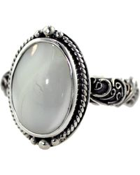 Lori Bonn - Bonn Bon Jewellery Sterling Silver Check Please Mother Of Pearl Cocktail Ring - Lyst
