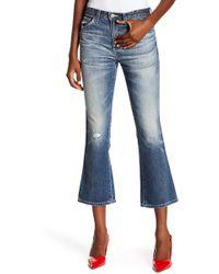 AG Jeans Jodi High-rise Slim Fit Cropped Flare Leg Jeans - Blue