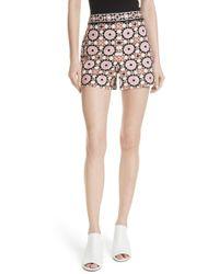 Kate Spade Floral Mosaic Jacquard Shorts - Multicolor