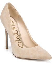Sam Edelman Women's Danna Pointed Toe High - Heel Pumps - Natural