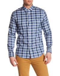 Good Man Brand - Plaid Long Sleeve Trim Fit Shirt - Lyst