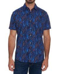 Robert Graham Tatum Classic Fit Short Sleeve Shirt - Blue