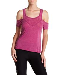 Steve Madden Cold Shoulder Shirt - Pink