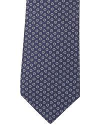 Ben Sherman Nolan Checked Silk Tie - Blue