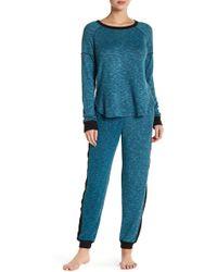Kensie - Rib Knit Panel Sweatpants - Lyst