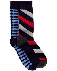 Happy Socks - Non Terry Crew Socks - Pack Of 2 - Lyst