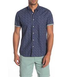 Descendant Of Thieves Americana Paisley Print Slim Fit Shirt - Blue
