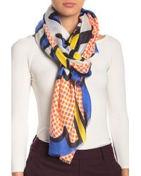 Love Moschino Comic Print Woven Scarf - Blue