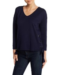 Cable & Gauge - Lace-up Side Texture Sweatshirt - Lyst
