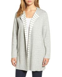 Eileen Fisher - Reversible Organic Cotton Blend Cardigan - Lyst