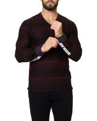 Maceoo V-neck Long Sleeved Shirt - Black
