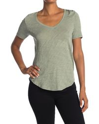 ATM Slub V-neck T-shirt - Green