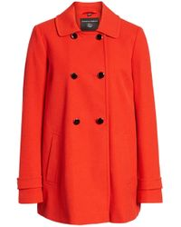 Dorothy Perkins - Double Breasted Swing Coat - Lyst