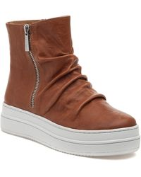 J/Slides Tina Platform High Top Sneaker - Brown