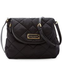 Marc By Marc Jacobs Quilted Nylon Messenger Bag - Black