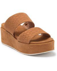 J/Slides Quincy Wedge Platform Sandal - Brown