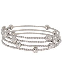 Alor Stainless Steel Cascade Chain Bangle Bracelet - Metallic
