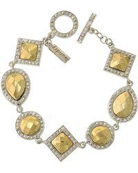1928 - Two-tone Geometric Shape Bracelet - Lyst