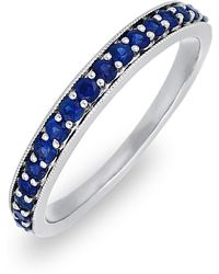 Bony Levy - 18k White Gold Channel Set Sapphire Band - Lyst