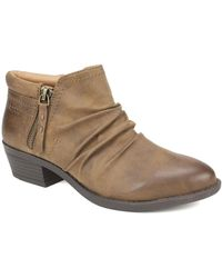 White Mountain Footwear Dalilah Western Ankle Bootie - Brown