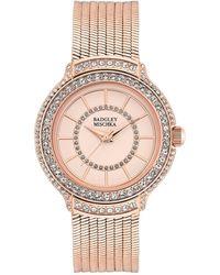 Badgley Mischka Women's Rose Gold Tone Liquid Chain Bracelet Watch, 34mm - Metallic