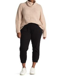 RACHEL Rachel Roy Army High Rise Crop Military Pants - Black