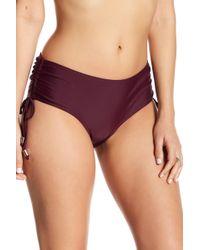 CYN & LUCA - Ruched Bikini Bottoms - Lyst