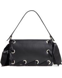 TOPSHOP Premium Grace Leather Shoulder Bag - Black