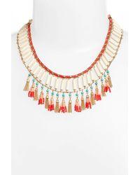 Rebecca Minkoff - Luna Beaded Collar Necklace - Lyst