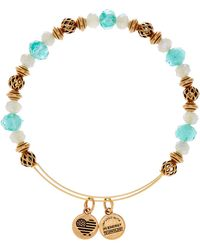 ALEX AND ANI - Moon Tide Openwork Bead & Faceted Crystal Bead Adjustable Bangle - Lyst
