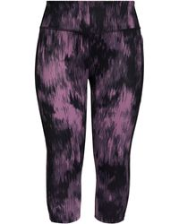 Zella Live In High Waist Crop Leggings - Purple