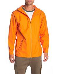 Rains Breaker Waterproof Zip Hooded Jacket - Orange