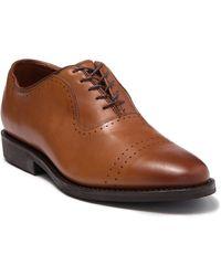 Allen Edmonds Ballard Cap Toe Leather Oxford - Wide Width Available - Brown